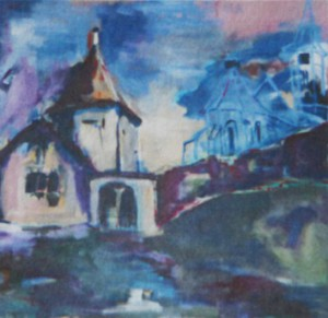 Kirchenburg in Alzen