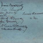 """Abschiedskarte an Pfarrer Arnold Schmidt von dem """"Leschkircher Leseabend"""""""